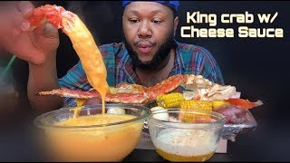 King Crab Seafood boil W\ Cheddar Cheese Sauce Mukbang | Q&A| Day 2