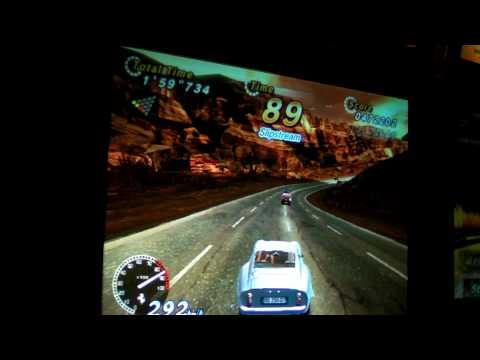 Arcade OutRun 2 SP 250GTO 1080p HD Trocadero London sanyo xacti