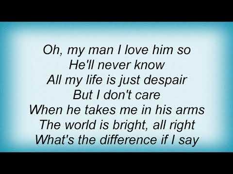 Billie Holiday - My Man Lyrics