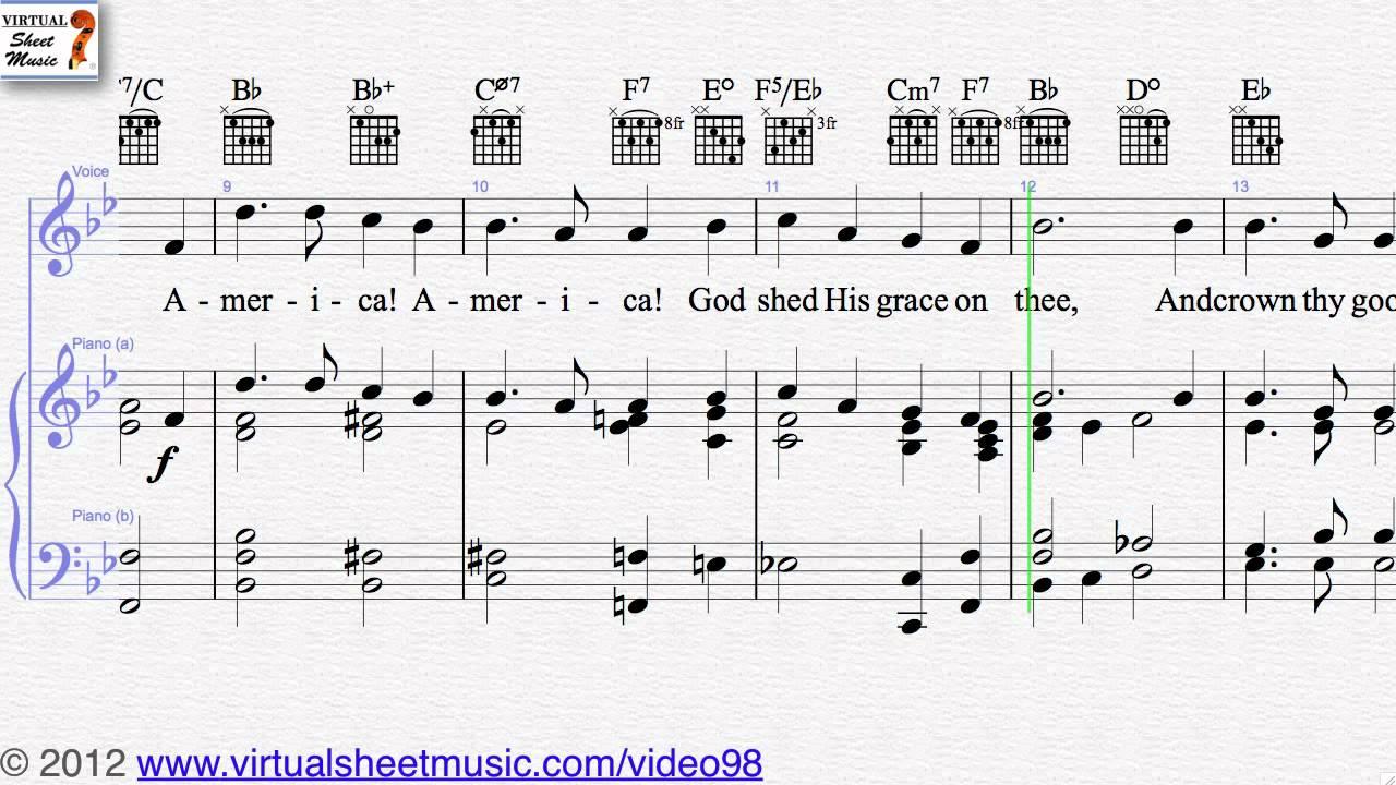 Samuel Augustus Ward S America The Beautiful Sheet Music