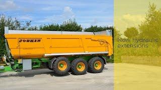 Nieuwe hydraulische opzetschotten op landbouwkipwagens