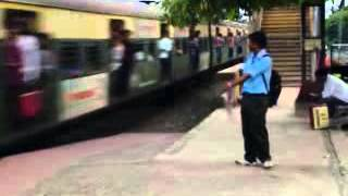 LOCAL TRAIN COMING IN PLATFORM