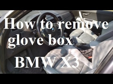 How to remove glove box - BMW X3 - how to get to fuses, removal ...