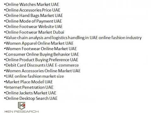 Online Accessories Website UAE, UAE Online Apparel Sales, Internet Penetration UAE - Ken Research