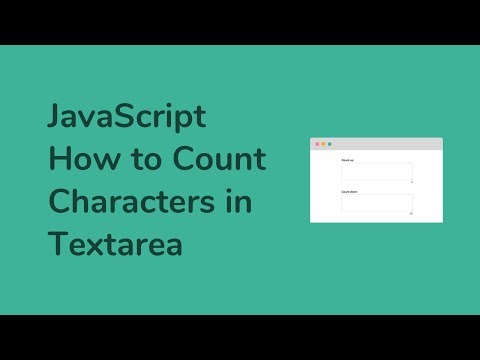 How to Count Characters in Textarea using JavaScript
