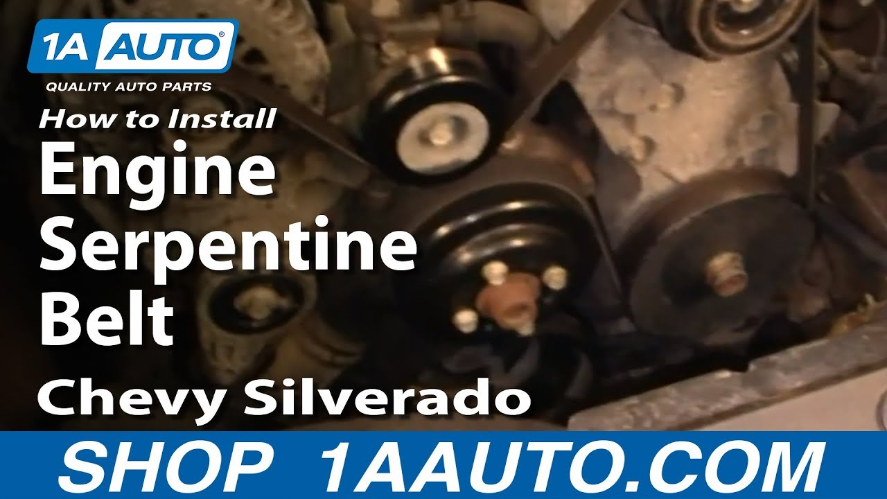 how to install replace engine serpentine belt chevy silverado gmc rh youtube com 2000 Chevy Malibu Engine Diagram 2000 Chevy Impala Engine Diagram