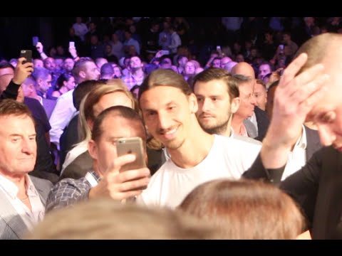 MAN LIKE ZLATAN !!!! - ZLATAN IBRAHIMOVIC ARRIVES AT THE GOLOVKIN v BROOK FIGHT (FOOTAGE)