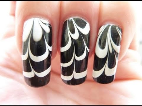water marble nail art entry
