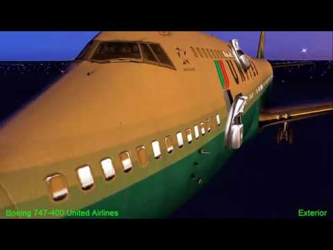 X Plane 10  United B747 400  LEBL Barcelona- LEVC Valencia