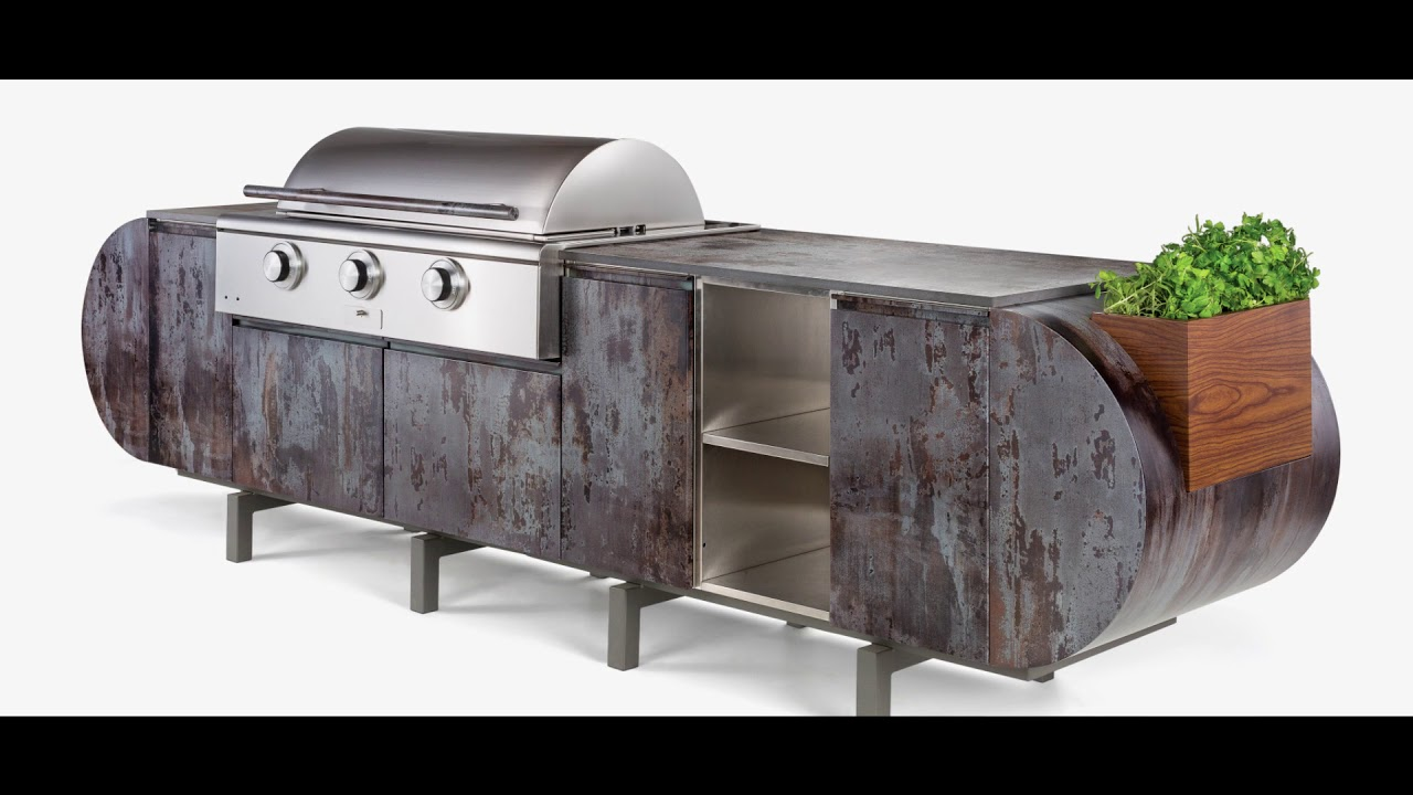 Danver Outdoor Kitchens Kitchen Cherry Cabinets And Brown Jordan Montage Youtube