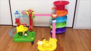 コロロンシリーズを合体させて遊んでみた♪ Kororon park series with daruma  アンパンマンのおもちゃ thumbnail