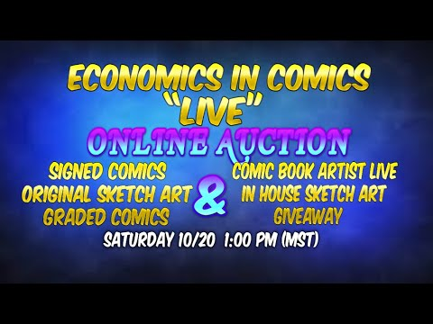 "1st Live Comic Book Auction ""Signed, Graded, Original Art Comics"" Live Artist Sketch Giveaway 10/20"