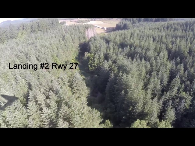 Vernonia Airport Landing and Taking Off