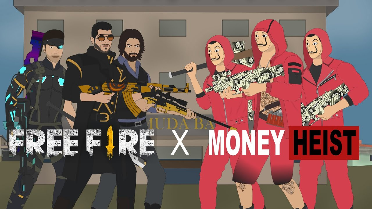 [SHORT ANIMATION MOVIE] Squad Free Fire vs Squad Money Heist | MAS SAYUR