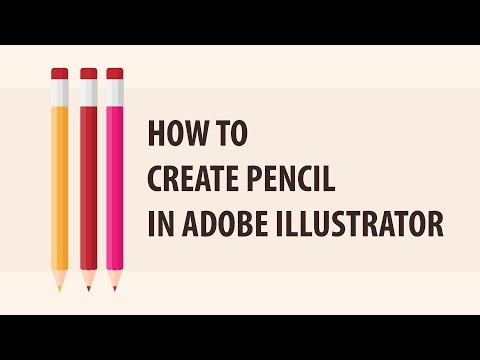How to create a vector Pencil | Adobe illustrator Tutorial thumbnail