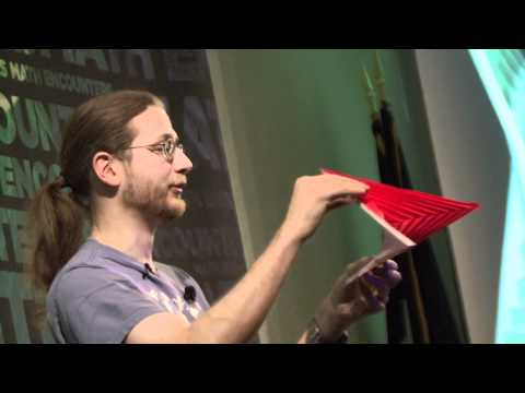 Math Encounters - The Geometry of Origami -- Erik Demaine (Presentation Part 2 of 4)