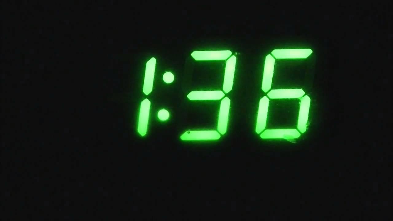 Digital clock Time lapse YouTube