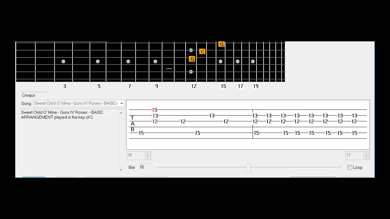 Fancy Guitar Chords Of Sweet Child O Mine Crest Beginner Guitar