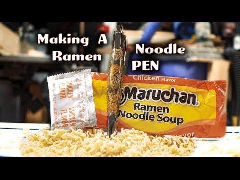 Making A Pen Out Of Ramen Noodles