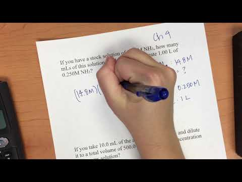 Ch 4 Stock Solutions And Dilutions