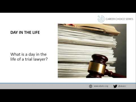 """Career Choice Series: Trial Lawyers: Working Both Sides of the """"v """""""