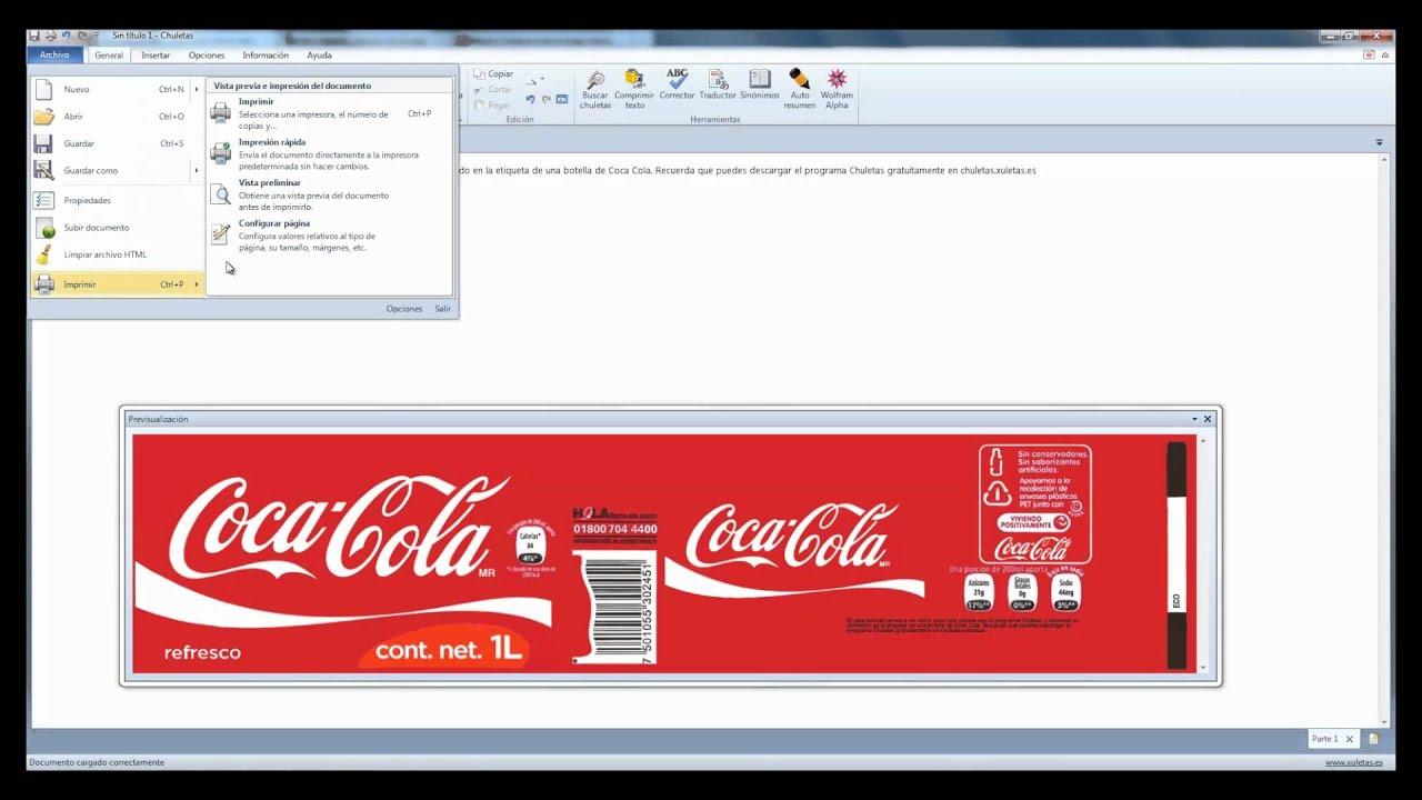Chuleta o acordeón en una botella de Coca Cola - YouTube