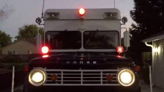 1966 W500 Police Truck red light check.
