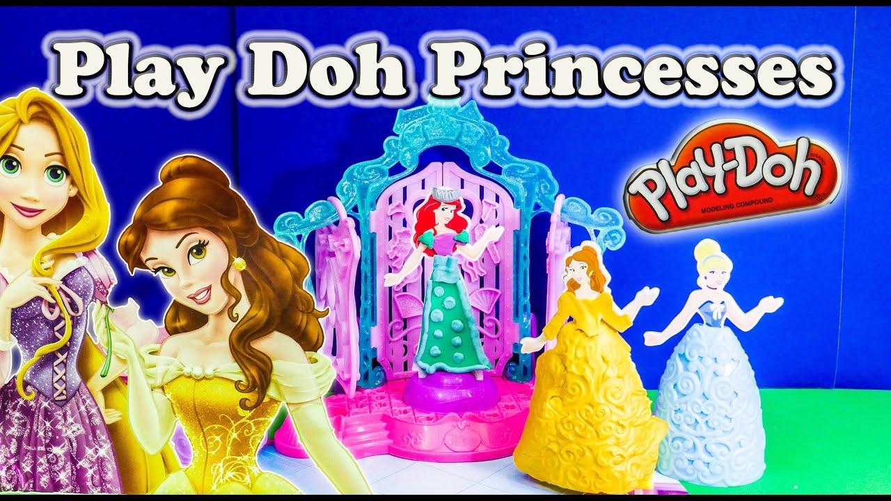 Princess Play Doh Design A Dress Ballroom Play Doh Toy Review Youtube