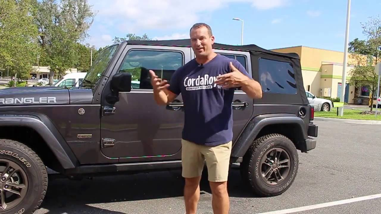 Soft Top Removal Jeep Wrangler Unlimited 2016 - YouTube