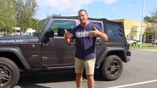 Soft Top Removal Jeep Wrangler Unlimited 2016