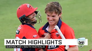 Zampa's late show leaves Queensland eating dust | Marsh One-Day Cup 2019