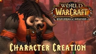 Warlords of draenor - character creation (new models!)