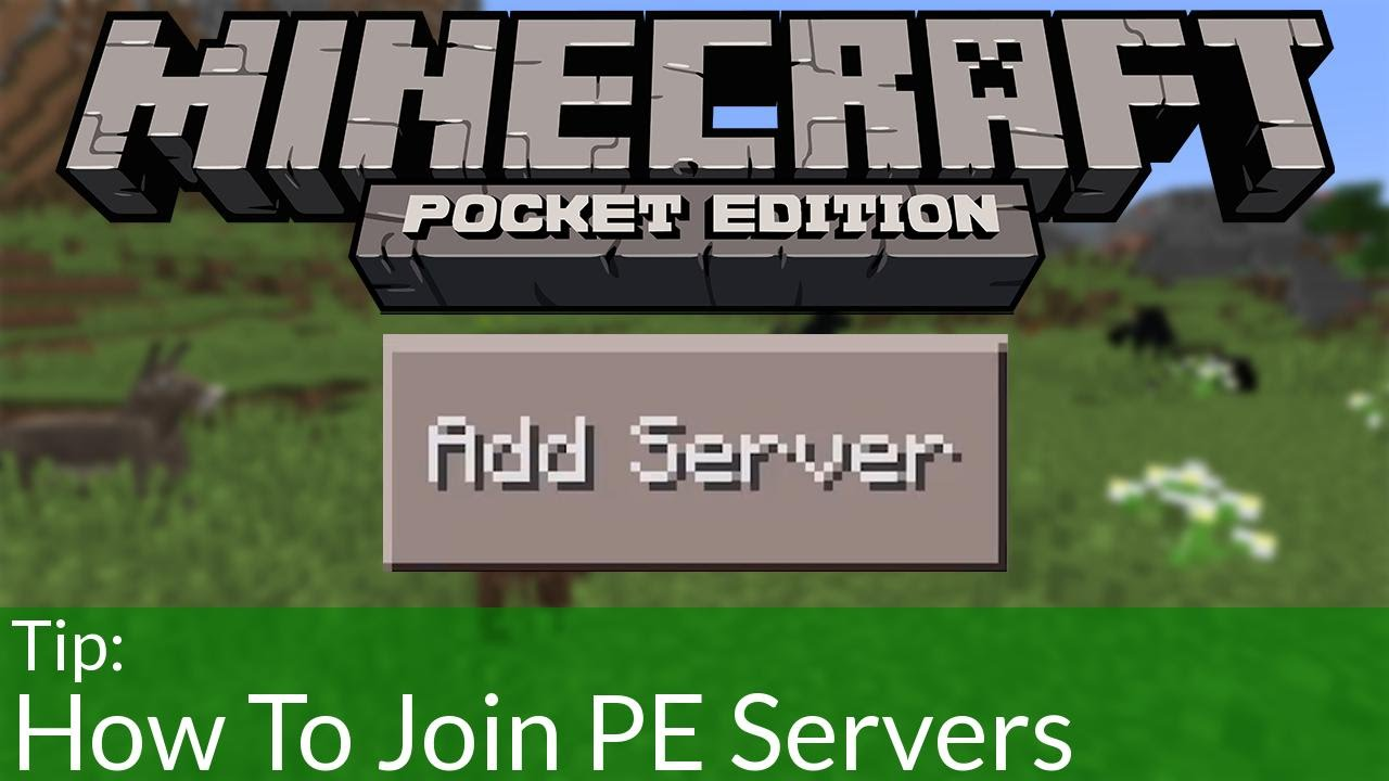 How to join minecraft pocket edition servers funnydog tv for Mine craft pocket addition
