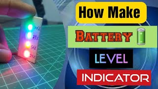 #12vBatteryLevelindicator. #voltmeeter HOW TΟ MAKE battery level Indicator easy at home.only 10Rs.