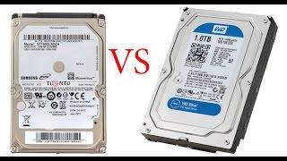 HDD от ноутбука VS HDD от пк что быстрее?