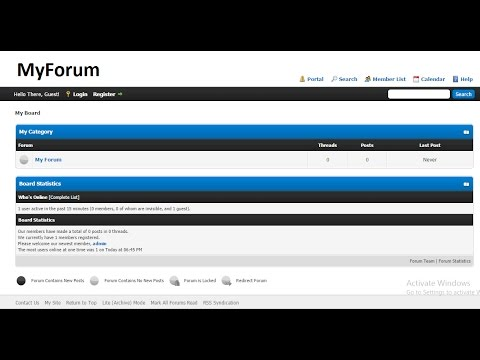 How To Make A Forum Website | Create a Forum Website Using MyBB In Just 5 Minutes