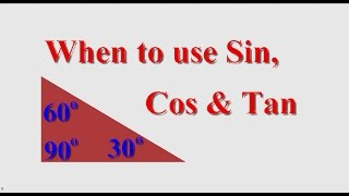 When Do I use Sin, Cos or Tan?