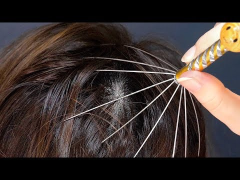 ASMR Sensitive Hair and Scalp (4K 60fps, Brushing, Massage)