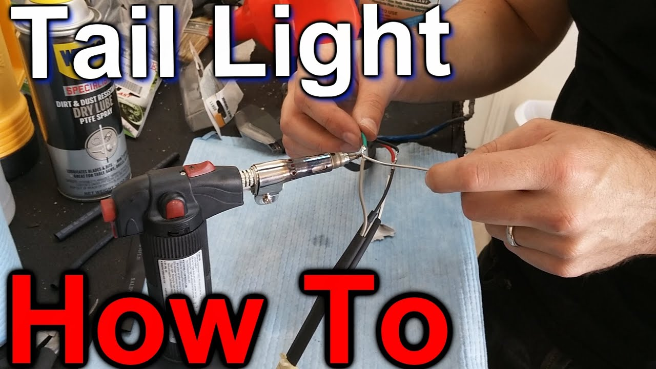 How to Install a Tail Light on a Motorcycle - YouTube