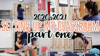 CLASSROOM SET UP PART ONE// BACK TO SCHOOL//2020-2021