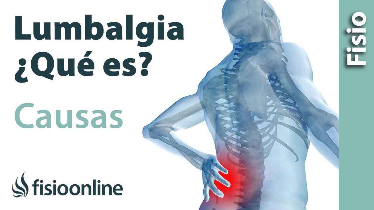 Lumbalgia o lumbago - ¿Qué es y cuáles son sus causas? - YouTube
