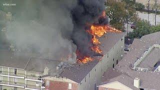 Fire Destroys Apartment Complex In Dallas