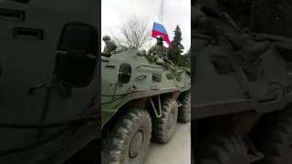 Въезд колонны российских военных в район сирийского города Африн