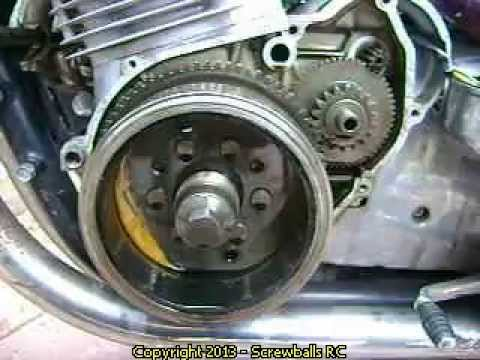 Replace a starter clutch on a Suzuki GS 1000 Motorcycle - YouTube