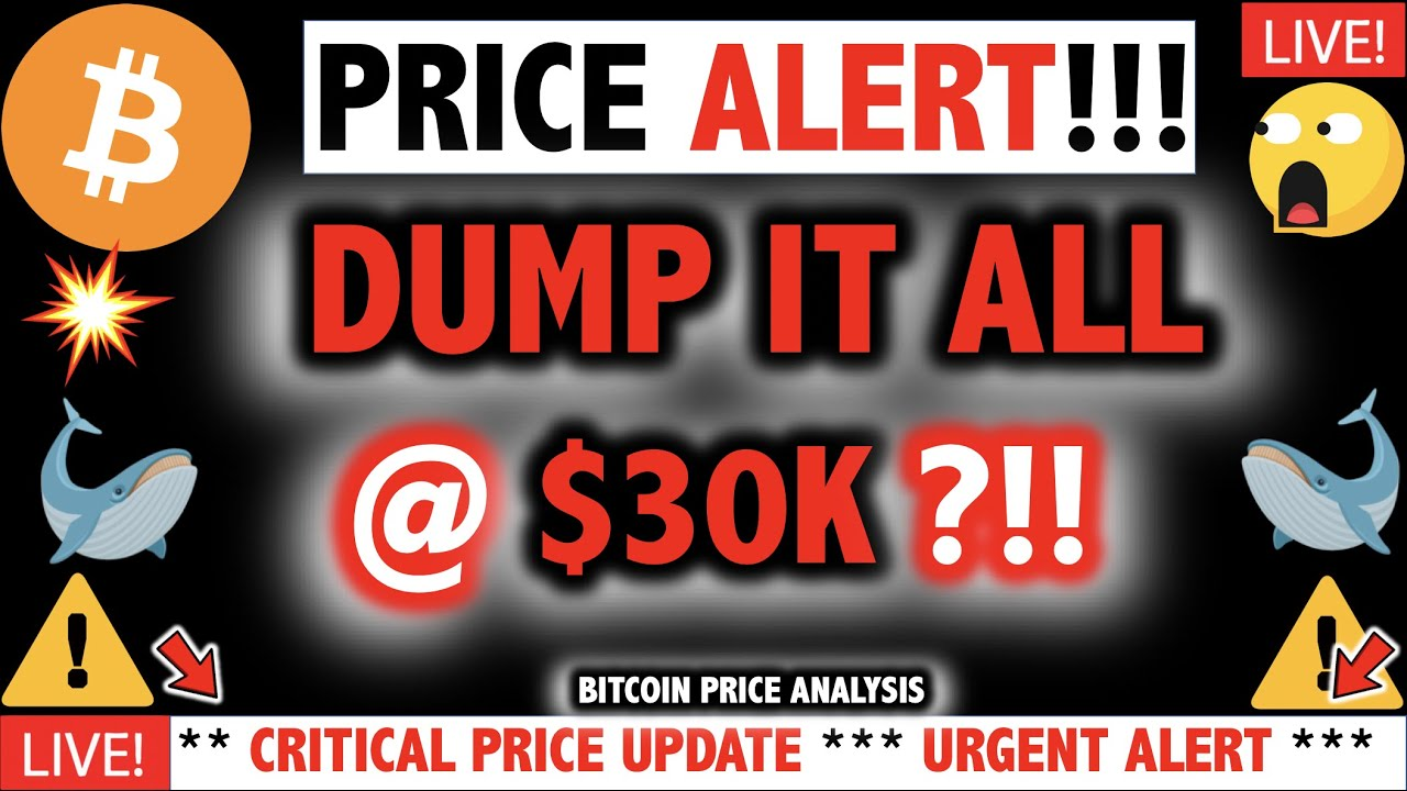 WHALES WILL DUMP BITCOIN @ $28-32K?!!! OMG!!! ⚠️ Crypto TA Today & BTC Cryptocurrency Price News