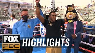 "Erislandy Lara KO's Lamanna to win the WBA ""Regular"" Middleweight Title 