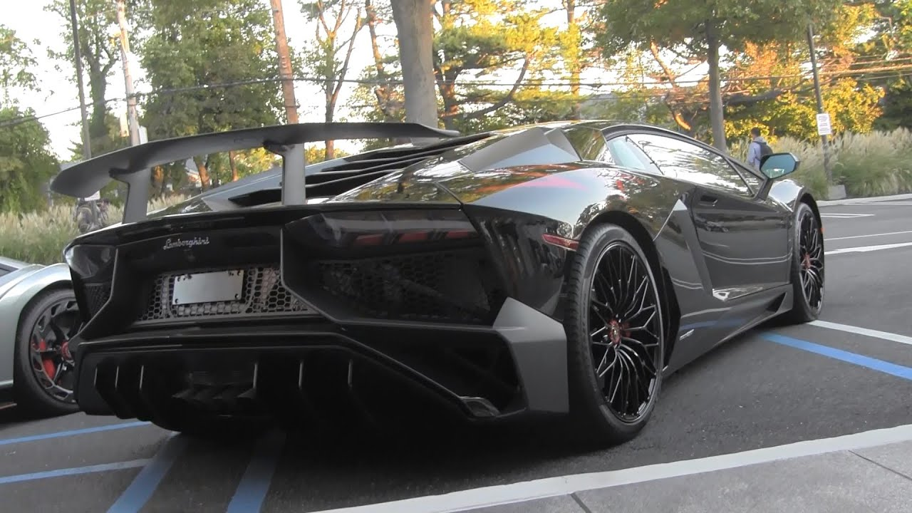 black lamborghini aventador lp 750 4 sv walkaround youtube. Black Bedroom Furniture Sets. Home Design Ideas