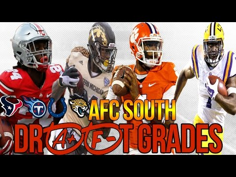 AFC SOUTH Grades FOR 2017 NFL DRAFT - WILL THIS FINALLY BE THE JAGS YEAR?