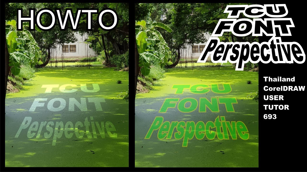 693.how to make perspective text in coreldraw