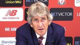Liverpool 4-0 West Ham - Manuel Pellegrini Full Post Match Press Conference - Premier League